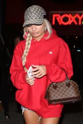 Pia Mia is Red Hot - Leaves the 6lack Show at The Roxy in West Hollywood 1/24/ 2017