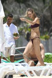 Romee Strijd in Bikini - Trancoso Beach in Brazil 01/02/ 2017