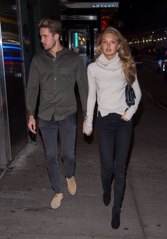 Romee Strijd With Her Boyfriend in New York, January 2017