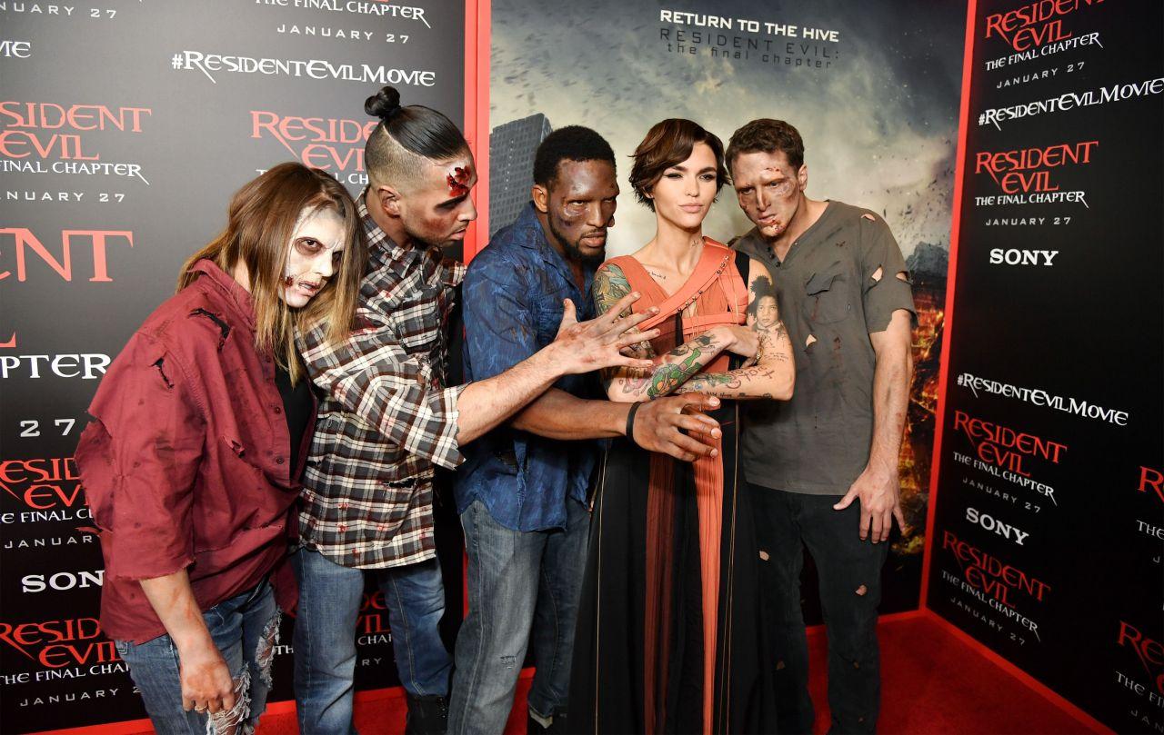 Wallpaper Resident Evil The Final Chapter Ruby Rose: Resident Evil: The Final Chapter Premiere In