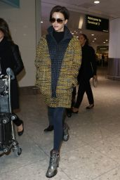 Ruby Rose Travel Outfit - Heathrow Airport in London 1/10/ 2017