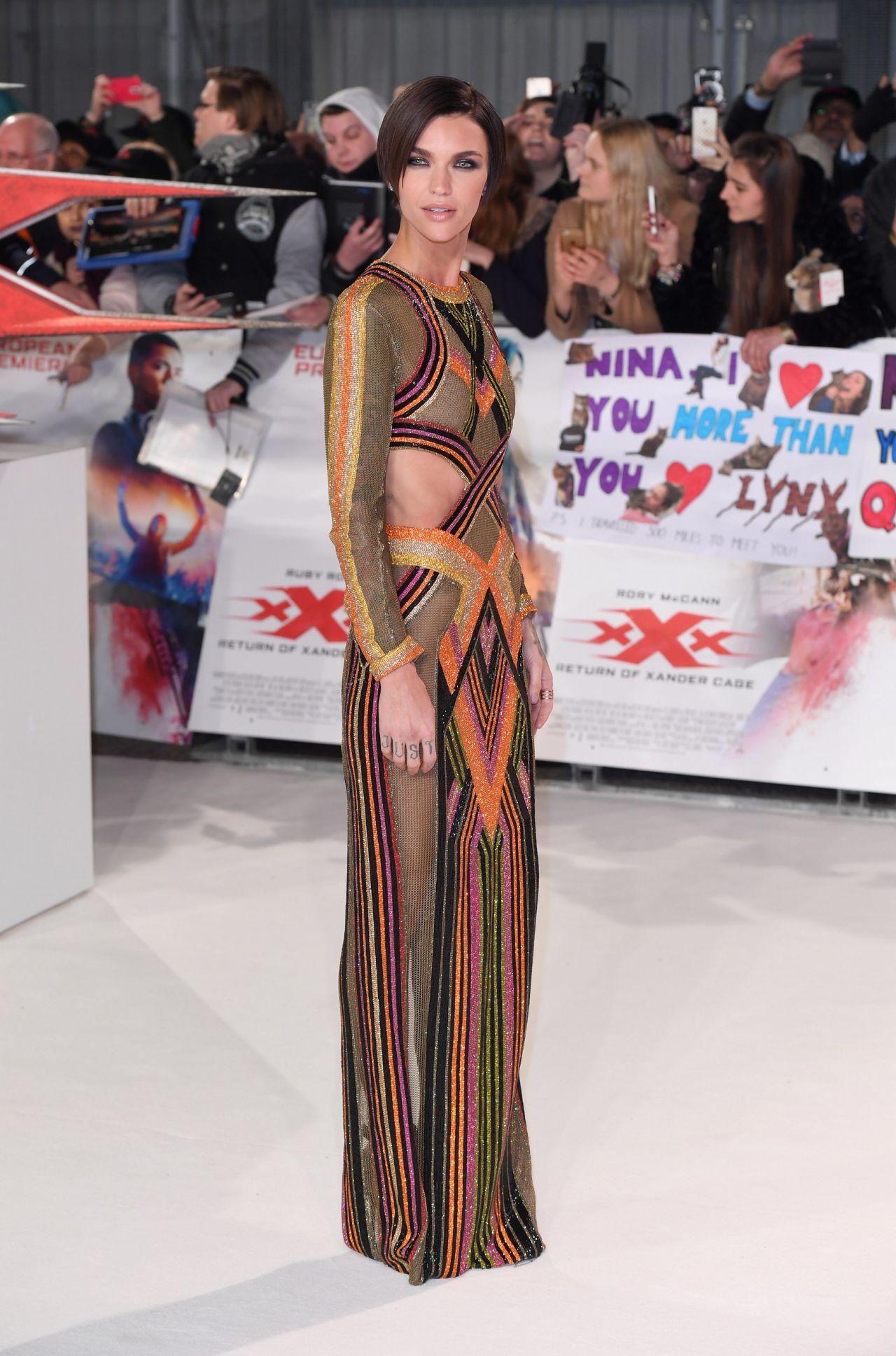 Ruby Rose Xxx Return Of Xander Cage European Premiere