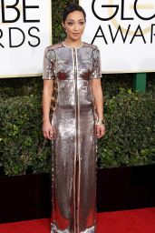 Ruth Negga – Golden Globe Awards in Beverly Hills 01/08/ 2017