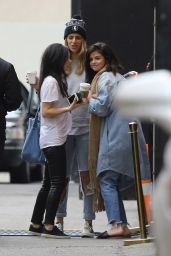 Selena Gomez - Shares a Hug With Friends Outside of Church in West Hollywood 1/16/ 2017