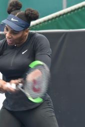 Serena Williams - Training Session at ASB Tennis Centre in Auckland, New Zealand 12/30/ 2016