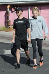 Sophie Turner in Leggings - West Hollywood 1/6/ 2017
