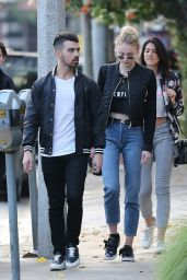 Sophie Turner With Her Boyfriend - Out in Beverly Hills 1/5/ 2017