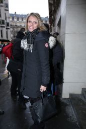 Sylvie Tellier - Leaves RTL Radio Studios in Paris 1/2/ 2017