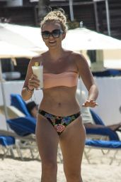 Tallia Storm Bikini Candids - With Boyfriend Strolling on The Shore in The Island Sun in Bridgetown 1/4/ 2017