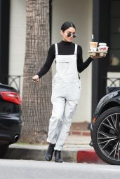 Vanessa Hudgens Cute Outfit - Geting Coffee in LA 1/3/ 2017