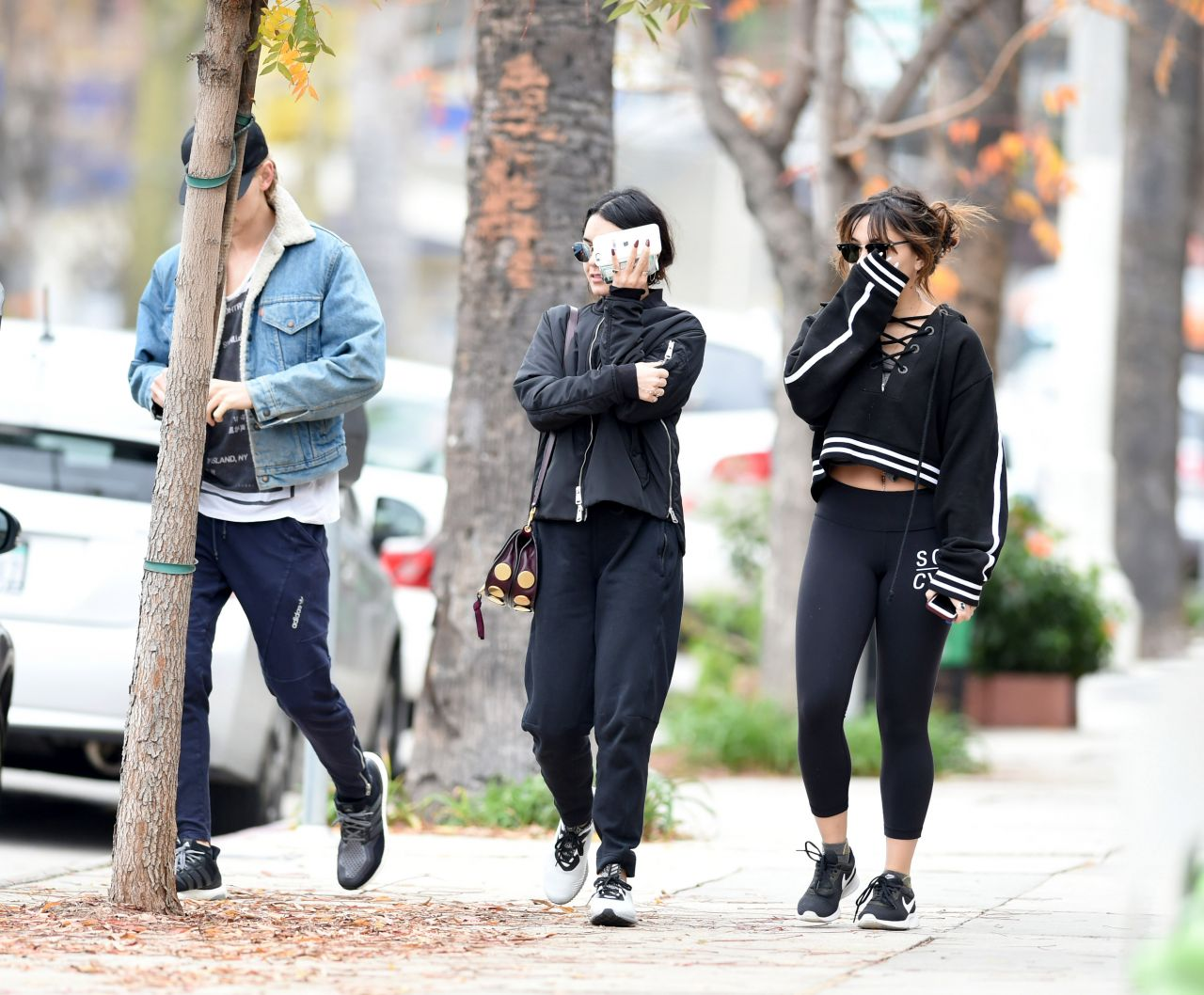 Vanessa & Stella Hudgens - Go for a Workout in LA 1/2/ 2017