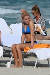 Zara Larsson in a Bikini at a Beach in Miami 1/12/ 2017