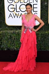 Zoe Saldana – Golden Globe Awards in Beverly Hills 01/08/ 2017