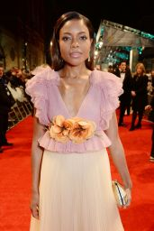 Naomie Harris on Red Carpet at BAFTA Awards in London, UK 2/12/ 2017