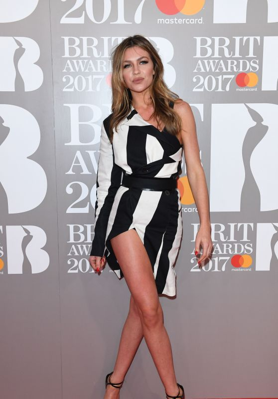 Abigail Clancy on Red Carpet – The Brit Awards at O2 Arena in London 2/22/ 2017