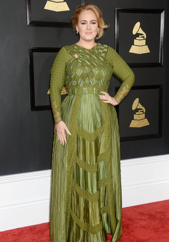 Adele at GRAMMY Awards in Los Angeles 2/12/ 2017