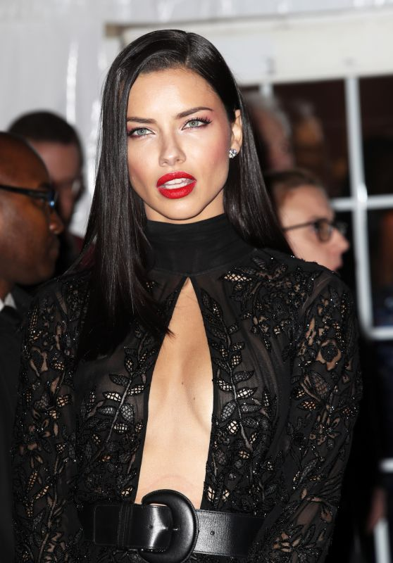 Adriana Lima at amfAR New York Gala Red Carpet, 2/8/ 2017