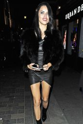 Adriana Lima Night Out Style -London 2/19/ 2017