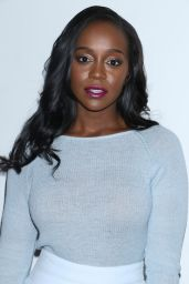 Aja Naomi King - Prabal Gurung Fashion Show in New York 2/12/ 2017