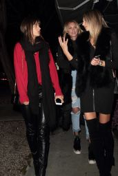 Alessandra Ambrosio in Madeo Restaurant Hollywood 2/6/ 2017