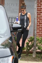 Alessandra Ambrosio in Spandex - Leaving the Gym in Los Angeles 2/21/ 2017