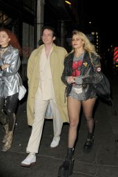 Alice Dellal Night Out Style - London 2/20/ 2017