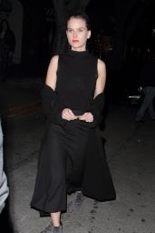 Alice Eve at Madeo Restaurant in Hollywood 2/1/ 2017