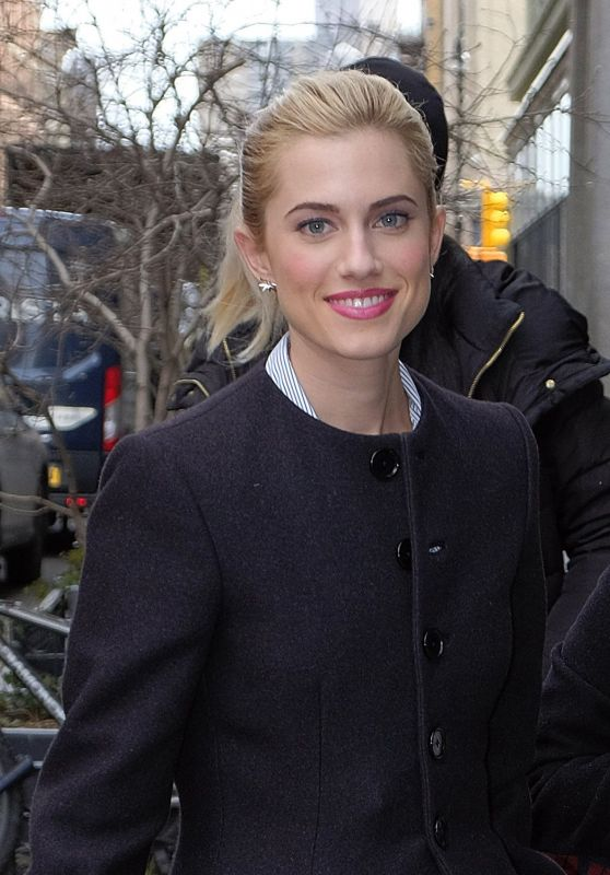 Allison Williams at AOL Build Speaker Series in NYC 2/21/ 2017