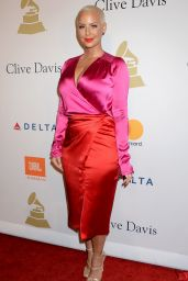 Amber Rose at Clive Davis PreGrammy Party in Los Angeles 2/11/ 2017