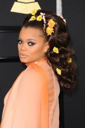 Andra Day on Red Carpet – GRAMMY Awards in Los Angeles 2/12/ 2017