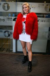 Anne-Marie Cute Outfit - Arriving at BBC Radio One Studios in London 2/16/ 2017