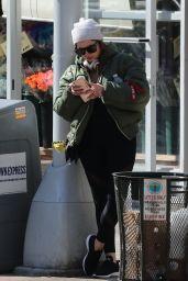 Ashley Benson Wearing Black Tights - NYC 2/28/ 2017