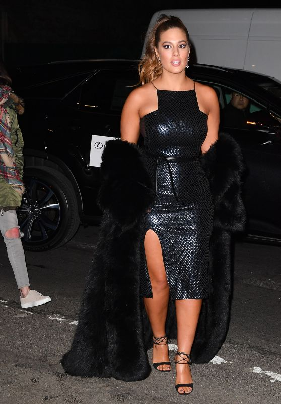 Ashley Graham Arriving at SI 2017 Launch Event in NYC 2/16/ 2017