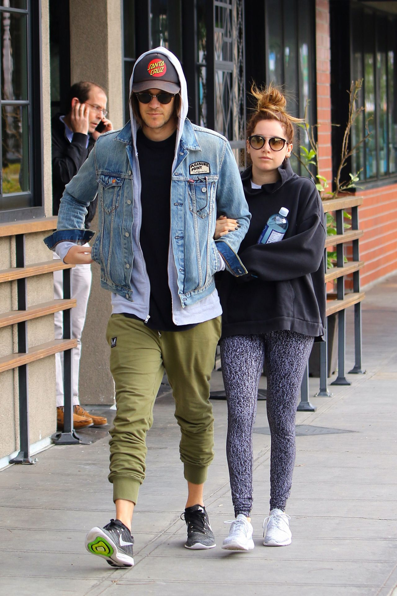 Ashley tisdale with christopher french in la