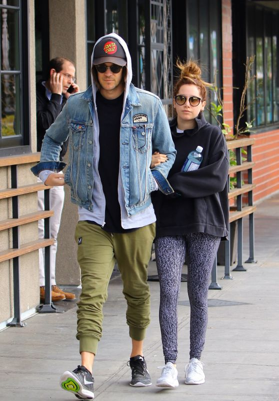 Ashley Tisdale - Goes for Brunch With Her Husband Christopher French, Los Angeles 2/19/ 2017