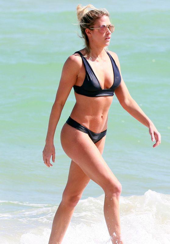 Barbie Blank (Kelly Kelly) in Bikini in South Beach, Miami Beach 2/27/ 2017