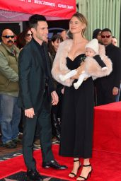 Behati Prinsloo - Adam Levine Honored With Star on The Hollywood Walk of Fame in LA 2/10/ 2017