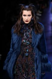 Bella Hadid - Anna Sui Runway at New York Fashion Week 2/15/ 2017