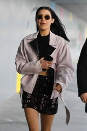 Bella Hadid - Arriving at the Versace Fashion Show in Milan 2/24/ 2017
