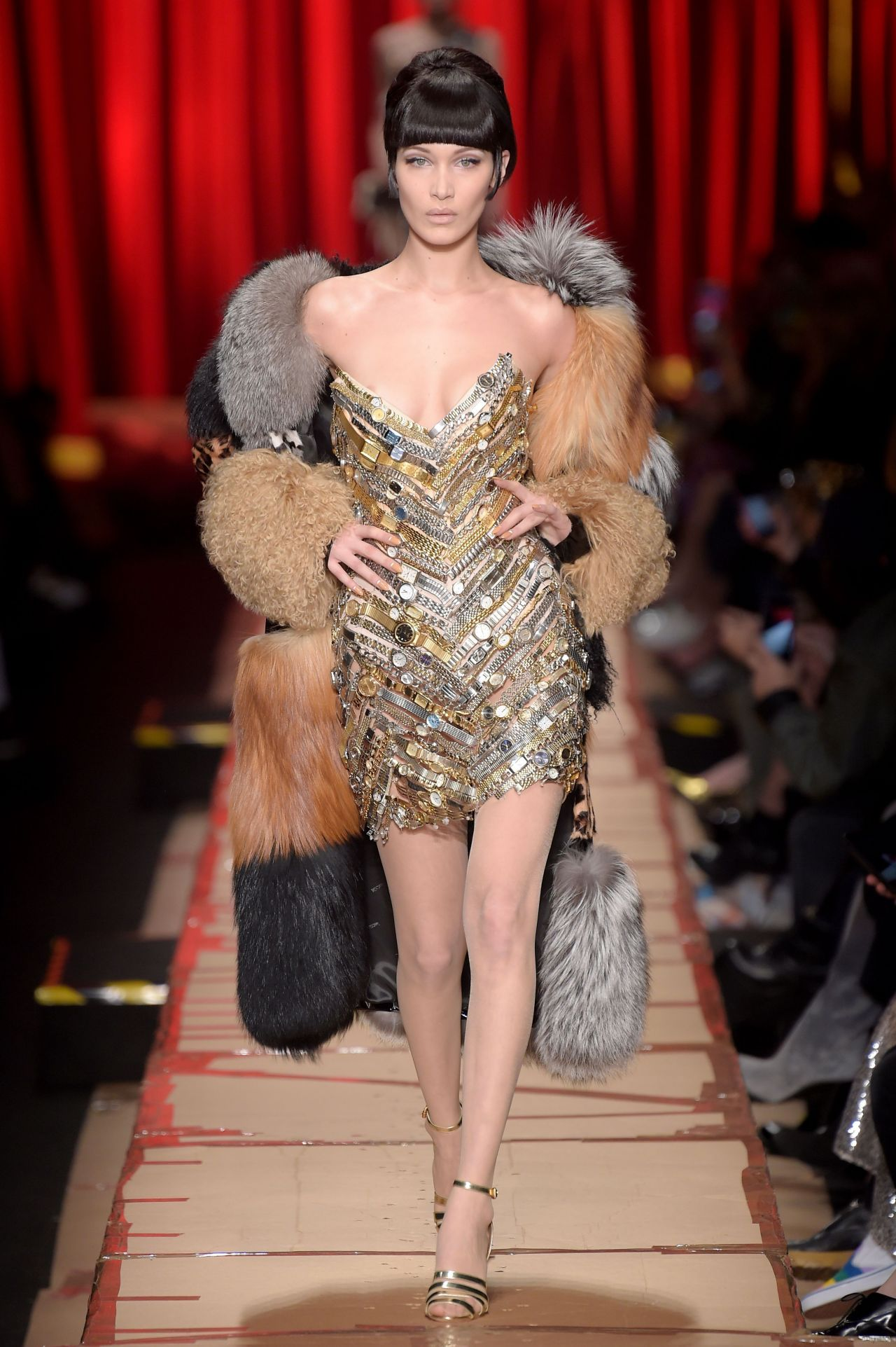 Bella Hadid Hit The Catwalk For Moschino