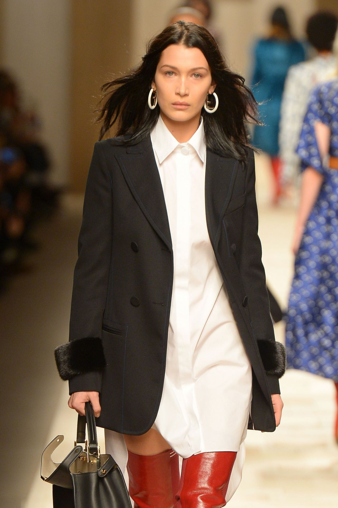 Bella Hadid Walks FENDI Show at Milan Fashion Week 2/23/ 2017
