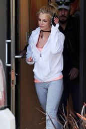 Britney Spears - Arriving & Leaving a Dance Studio in Los Angeles 2/25/ 2017