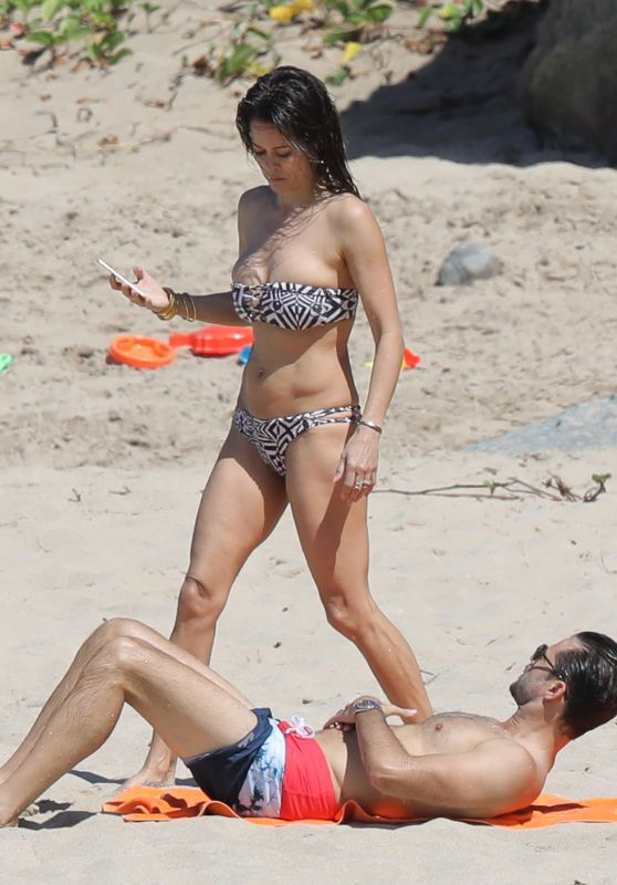 Brooke Burke in Bikini - Beach Fun in St. Barts 2/15 20/17