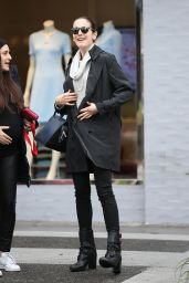 Camilla Belle - Enjoys Her Rainy Day Out Shopping With a Friend, Beverly Hills 2/6/ 2017