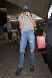 Cara Delevingne Street Style - LAX Airport in Los Angeles 2/27/ 2017