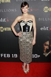 Carla Gugino – 'Billions' Season 2 Premiere in NYC 2/13/ 2017