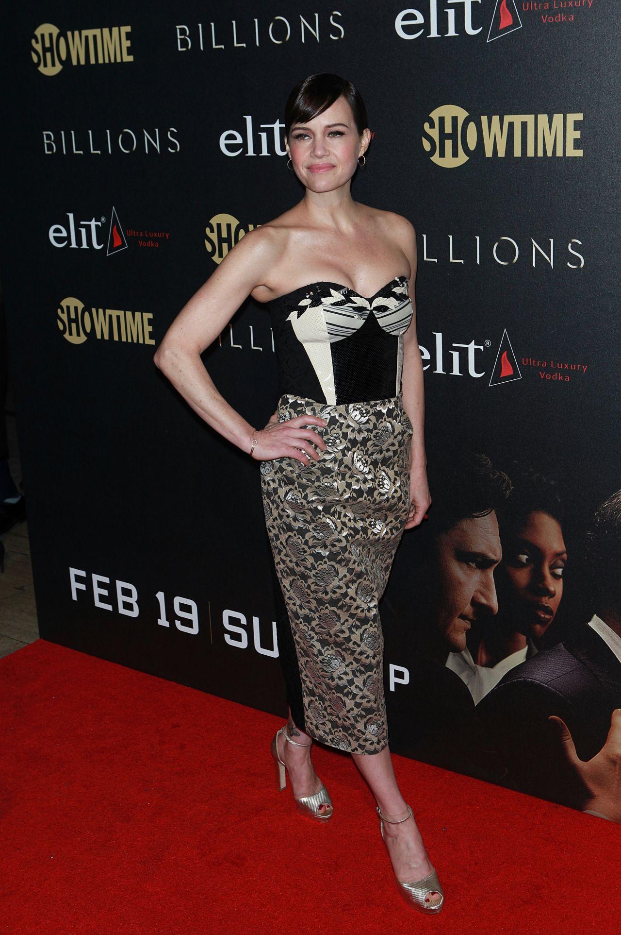 Carla Gugino Billions Season 2 Premiere In Nyc 2 13 2017