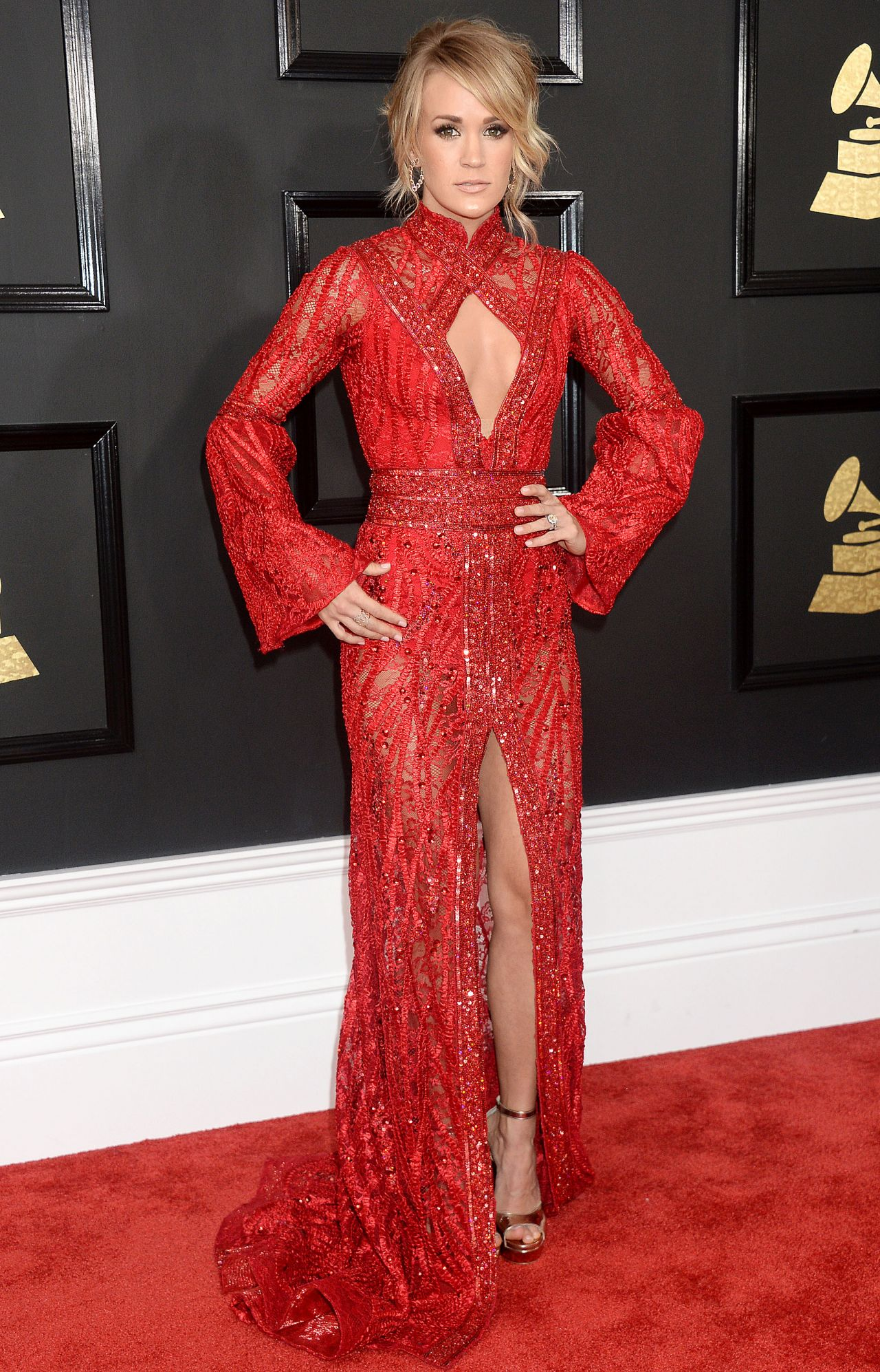 Carrie Underwood RED HOT 2017 GRAMMY Awards