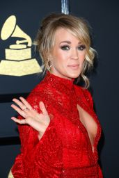 Carrie Underwood on Red Carpet – GRAMMY Awards in Los Angeles 2/12/ 2017