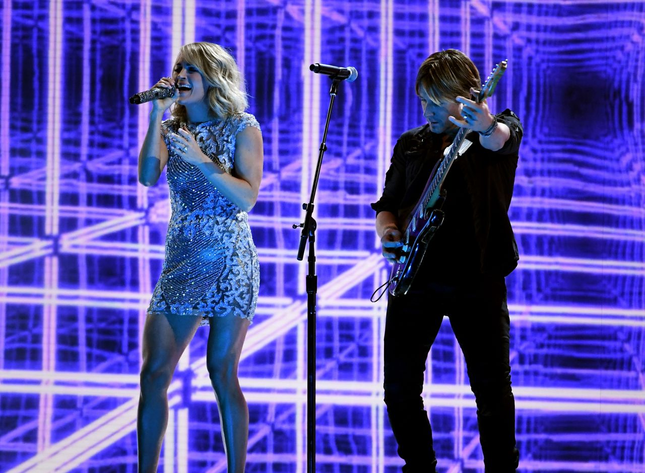 Carrie Underwood performs with Keith Urban GRAMMYs